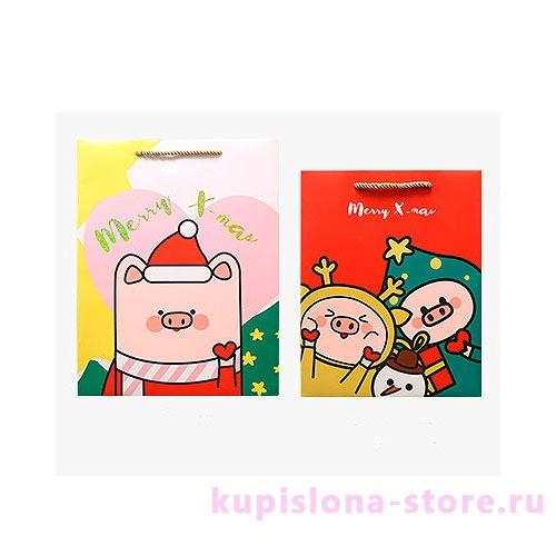 Подарочный пакет «Piggy's Christmas» средний