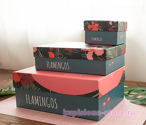 Подарочная коробка «Pink flamingo» большая