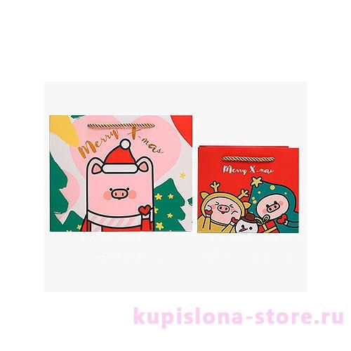 Подарочный пакет «Piggy's Christmas» маленький
