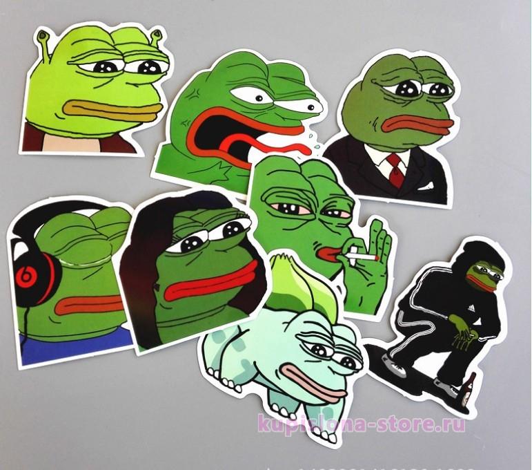 Набор наклеек «Sad Pepe the Frog»
