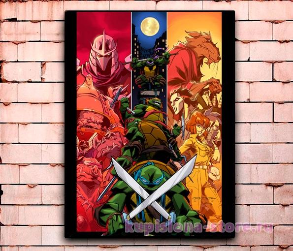Постер «Черепашки-ниндзя» средний