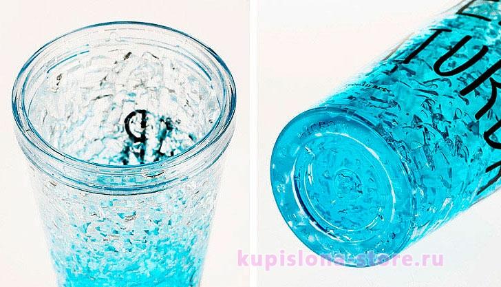 Охлаждающий стакан с трубочкой