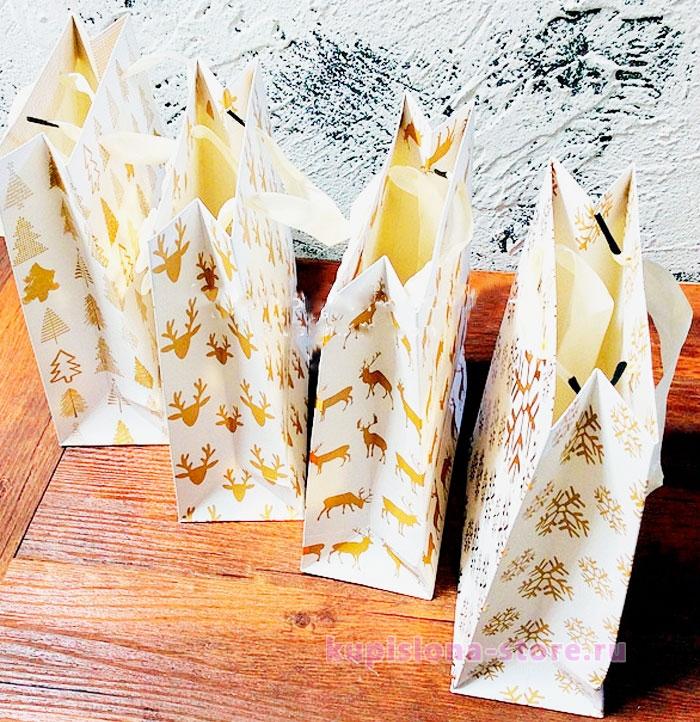 Подарочный пакет «Gold winter» большой