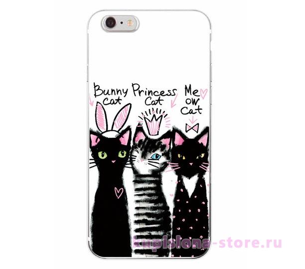Чехол для iPhone «Three cats»