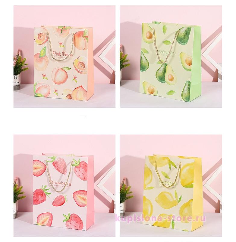 Подарочный пакет «Juicy fruit» средний