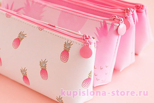 Пенал «Be a pink pineapple»