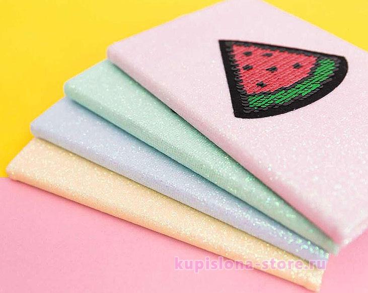 Блокнот с двусторонними пайетками «Colors»