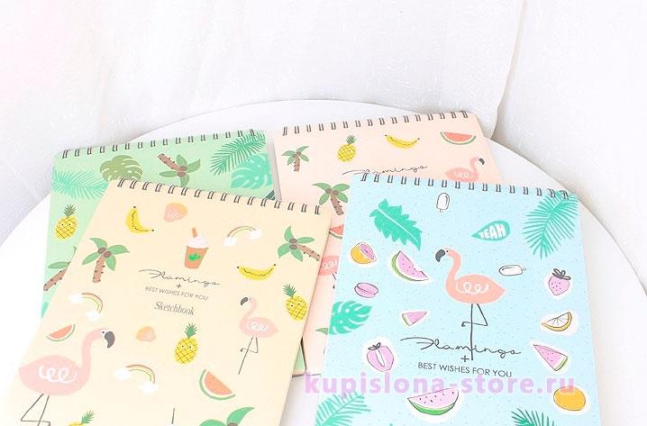 Скетчбук «Tropical flamingo»