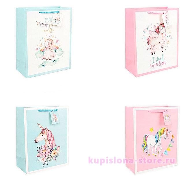 Подарочный пакет «Unicorn party» большой