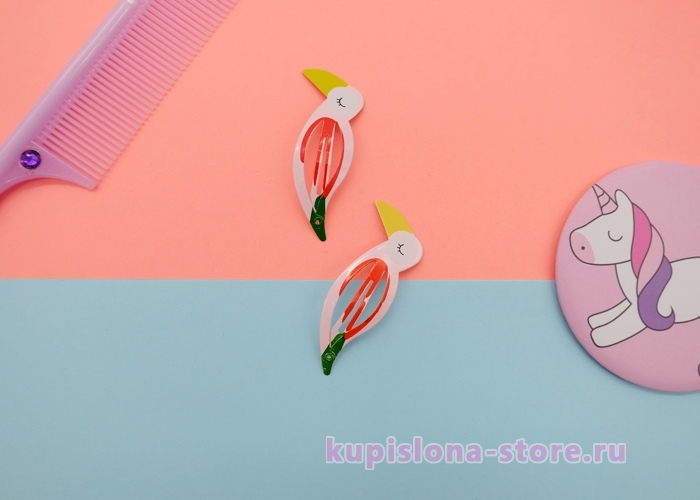 Заколка для волос «Фламинго»