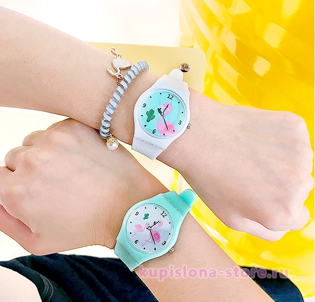 Наручные часы «Pink flamingo»