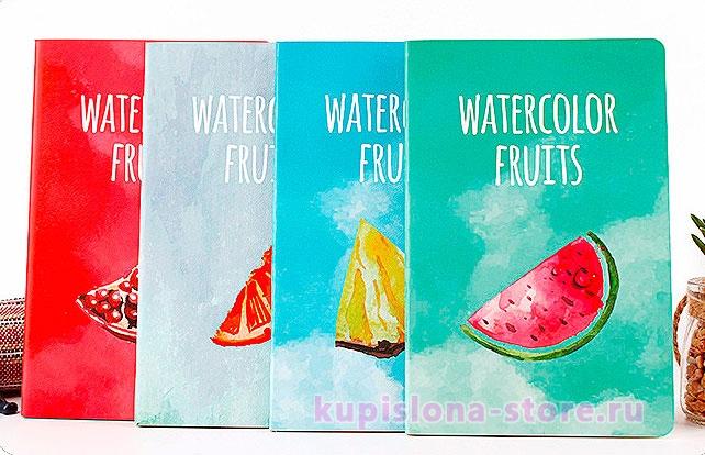 Тетрадь «Watercolor fruits» маленькая