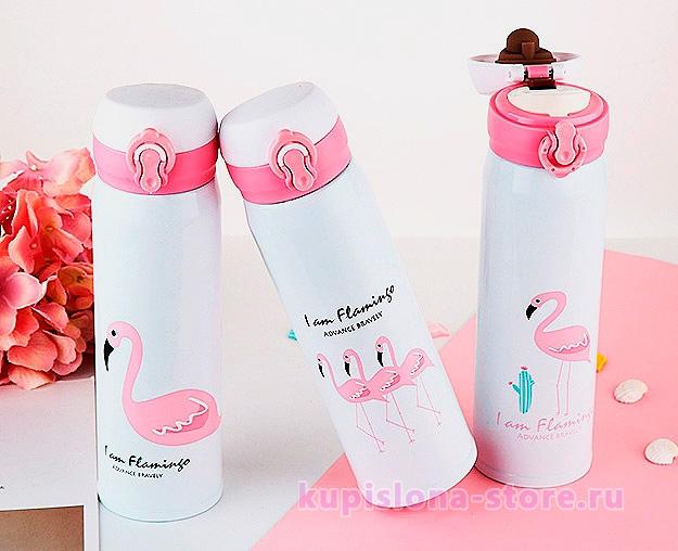 Термос «Розовый фламинго»