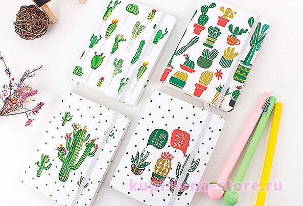 Блокнот «World of cactus» средний
