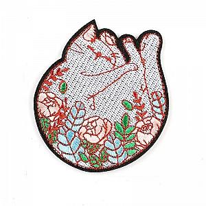 Нашивка «Котик в цветах»