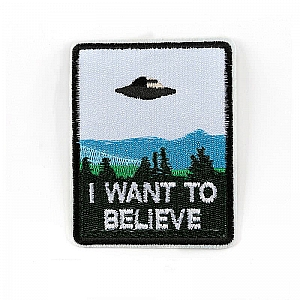 Нашивка «I want to believe»