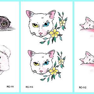 Временная татуировка «Two cats»