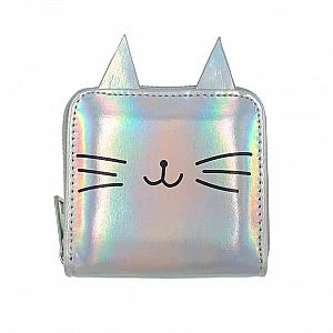Голографический кошелек «Усатый котик»