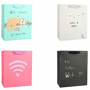 Подарочный пакет «I need wifi and coffee» большой