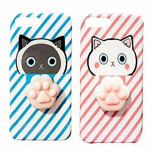 Чехол-антистресс для iPhone «Кошачья лапка»