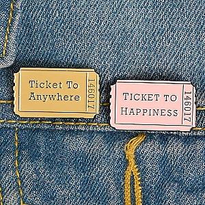 Брошь-значок «Билет»