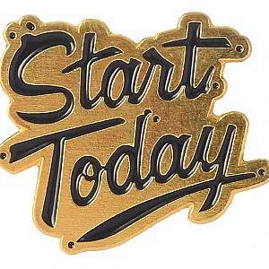 Брошь-значок «Start today»