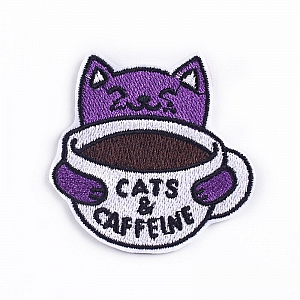 Нашивка «Cats & caffeine»