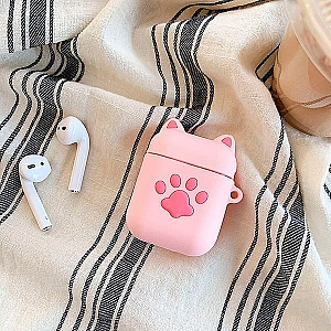 Чехол для AirPods «Pink cat paw»