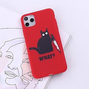 Чехол для iPhone «Кот с ножом»