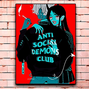 Постер «Antisocial demons club» средний