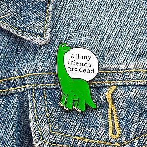 Брошь-значок «Динозавр»