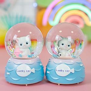 Стеклянный шар «Lucky cat» маленький