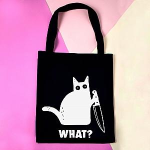 Сумка-шоппер «Кот с ножом»