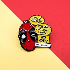 Брошь-значок «Deadpool phrases»