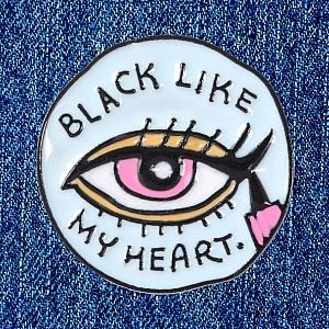 Брошь-значок «Black like my heart»