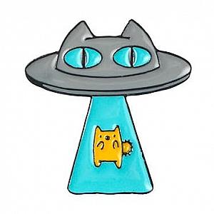 Брошь-значок «Инопланетные коты»