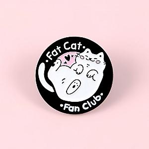 Брошь-значок «Fat cat»