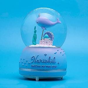 Стеклянный шар «Нарвал» большой