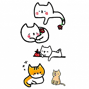 Временная татуировка «Котики»