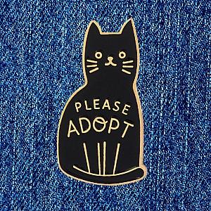 Брошь-значок «Please adopt»
