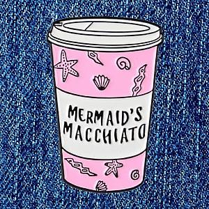 Брошь-значок «Mermaid's macchiato»