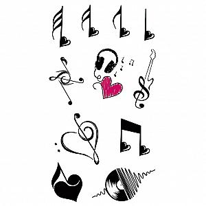Временная татуировка «Музыка сердца»