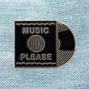 Брошь-значок «Music please»