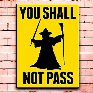 Постер «You shall not pass» средний