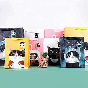 Подарочный пакет «Super cat» большой