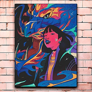 Постер «Girl and dragon» большой