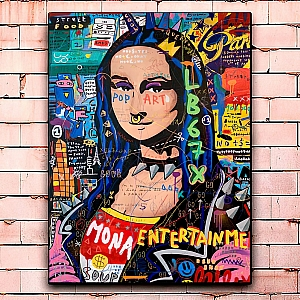 Постер «Mona entertain me» большой