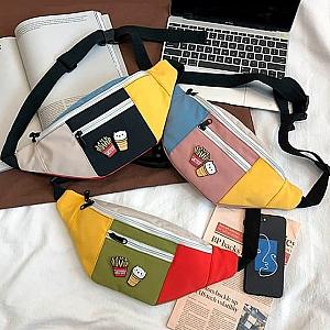Поясная сумка со значками «Fast food cat»