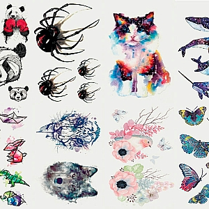 Временная татуировка «Фауна» (маленькая)