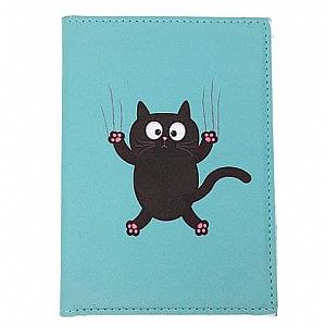 Обложка на паспорт «Black cat»